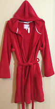 Victorias Secret Super Soft Cozy Robe Hoodie Red Small Pockets NWT