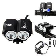 5000 lm CREE XM-L 2x U2 LED Owl Dual-use Bicycle bike Light HeadLight Headlamp