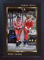 Niki Lauda James Hunt signed autograph Memorabilia Formula 1 Ferrari Framed #003