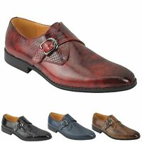 Mens Retro Snakeskin Print Shiny Leather Loafer Smart Casual Wedding Dress Shoes
