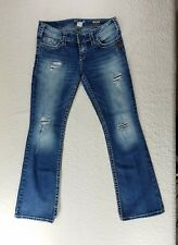 Silver Jeans Pioneer Boot Cut Womens Denim Pants W28 L32 distressed