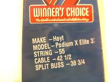 Winner's Choice String Set for Hoyt Podium X Elite 37