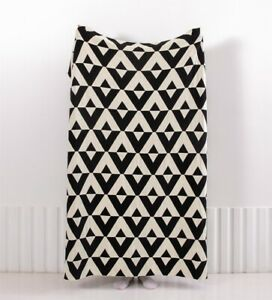 Chic Cotton Knitted Geometric Chevrons Nordic Bedspread Throw Blanket 130*160cm