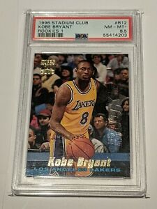 1996 Stadium Club Rookies 1 Kobe Bryant ROOKIE RC #R12 PSA 8.5 NM-MT+