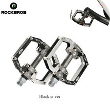 RockBros Cycling Bicycle Sealed Bearing Pedals Aluminum Pedals Black Silver