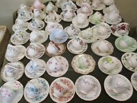 MISMATCH JOB LOT OF 10 VINTAGE CHINA CUP & MATCHING SAUCERS, PARTIES TEAROOMS