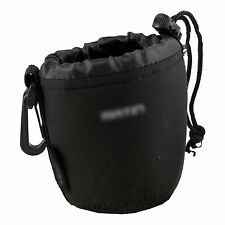 Neoprene Soft DSLR Camera Lens Pouch Case Bag to protect lens-Size:Small