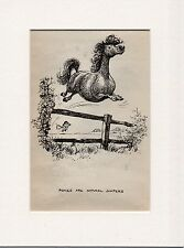 Thelwell Comical  Cover Page Original Vintage  Bookplate mounted