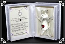 21st birthday gift for her, poem box and Crystal key necklace Memento #8
