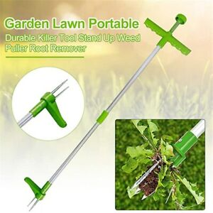 Long Handle Weed Remover Durable Garden Lawn Weeder Outdoor Yard Grass Root
