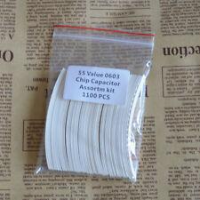 1100pcs SMD 0603 (1.6x0.8mm) CHIP Ceramic capacitors 55 Value Assortm kit RoHS