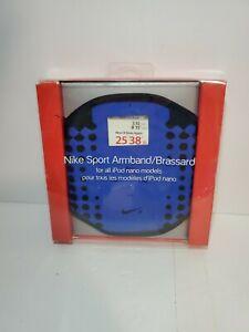 Nike Sport Armband Brassard For ALL Apple iPod Nano Models Blue Black