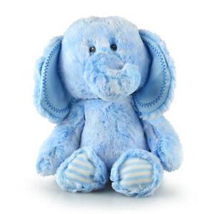 Korimco Snuggy Elephant [30cm] Blue Crinkle Pad Soft Plush Toy Baby Nursery NEW