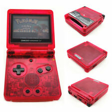 Clear Red Game Boy Advance SP Console AGS 001 Front light LCD GBA SP System