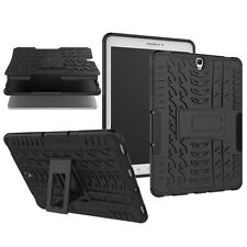 HIBRIDO exteriores Estuche protector negro para Samsung Galaxy Tab S3 9.7 t820