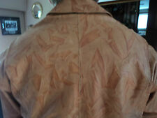 Camel Leather Bomber Style Jacket