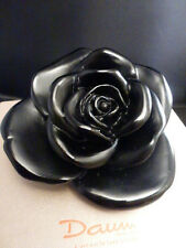 "Daum Crystal ROSE BLACK  New In Box MINT   4 1/2 ""  MINT  NEW  # 05290"