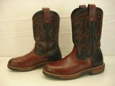 Mens 10 D M Red Wing 1121 Pecos Work Cowboy Boots Brown Black Leather Wellington