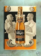 "Vintage Style Beer Tin  Photo Fridge Magnet 2 1/2"" x 3 1/2"" Blatz Old Heidelber"