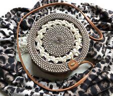 Straw Artisan Bali Rattan Round Bag
