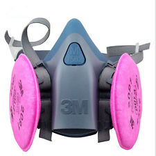 3M 7502 Half Facepiece Respirator Silicone mask use W/ 3M Cartridges 6000 Series