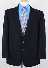 VTG Sue's Lahinch Magee Donegal Men's Blazer Sport Coat 45 R Navy Gold Buttons