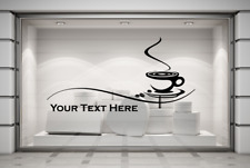 Custom Restaurant Cafe Business Coffee Shop Sign Text Wall Window Decal Sticker