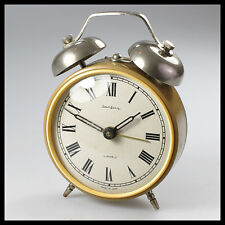 vintage antique old rare JANTAR YANTAR brown Mechanical ALARM CLOCK [wind up]