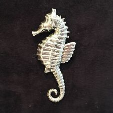 VINTAGE  STERLING SILVER SEA HORSE  BROOCH
