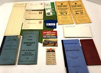 Vintage Lot Missouri Union Pacific Railroad Calendar Wages Seniority Postcards