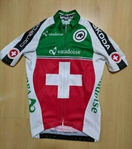 Assos Skoda Vaudoise Swiss Team Cycling Jersey Size XS