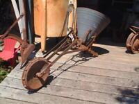 Vintage Hopper Spreader Planter, Pull Behind type