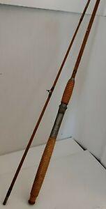 "Vintage Montague Monterey Split Bamboo 7'6""  Heavy  2-piece Antique Fishing Rod"
