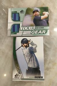 2021 SP Game Used Golf - Adam Hadwin Rookie Lot (2 Cards) w/ Tour Gear Shirt