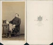 Ken, Paris, portrait d'homme Vintage CDV albumen carte de visite CDV, t