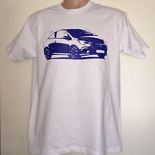WHITE & BLUE Corsa VXR OPC Vauxhall Opel T-Shirt TEE size XL