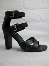 Kenneth Cole Reaction Sz 8.5 M Wash Ashore Black Leather Heels New Womens Shoes