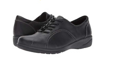 Clarks Leather Lace-up Shoes - Cheyn Ava Black Women's Size 7 New