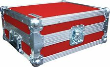 Technics SL1210 Turntable DJ Deck Swan Flight Case (Red Rigid PVC)