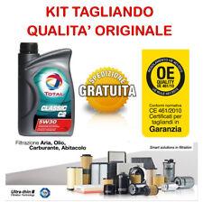 KIT TAGLIANDO ALFA ROMEO 159 1.9 JTD 4 FILTRI + OLIO TOTAL 5W30 DAL 2005
