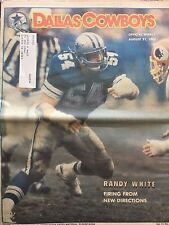 """"""" NFL Dallas Cowboys Official Weekly Magazine August, 31, 1985; Vol. 11, No.11"""