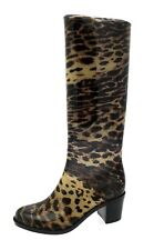 Womens High Heel Wellies Waterproof Wellington Boots Snow Rain Shoes Ladies Size