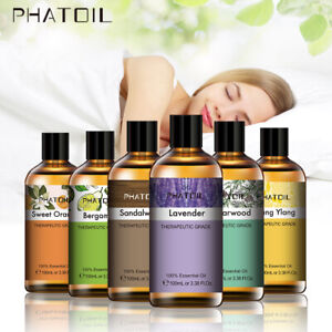 PHATOIL 100ml Essential Oils Pure Natural Aromatherapy Diffuser Oil with Dropper