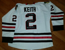 DUNCAN KEITH 'CHICAGO BLACKHAWKS' 3X SC CHAMP CONN SMYTHE SIGNED JERSEY *COA 1