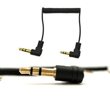 Gold Head 2.5mm 3 Pole Stereo Male to  Stereo 3.5mm Plug Coiled Spiral Cable M/M