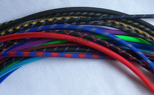 Mix Color 2MM-16MM Wide TIGHT Braided PET Expandable Sleeving Cable Wire Sheath