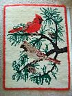 Christmas Winter Latch Hook Rug Complete 27 Inches By 36 Inches Free Shipping