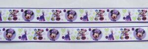 NEW Minnie Mouse Grossgrain Ribbon 22mm 1M,2M,3M, 4M or 5M U Choose