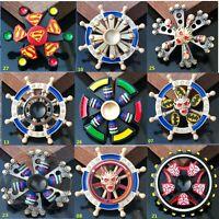 Double Spinner 2 In 1  Fidget Finger hand Spinner EDC Game Metal Gyro kids Toy