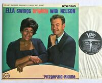 ELLA FITZERALD Ella Swings Brightly With Nelson (Riddle) 1962 Verve Jazz LP